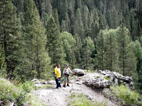 Photo of Ken Jones on the Trail along the West Fork of the San Juan river